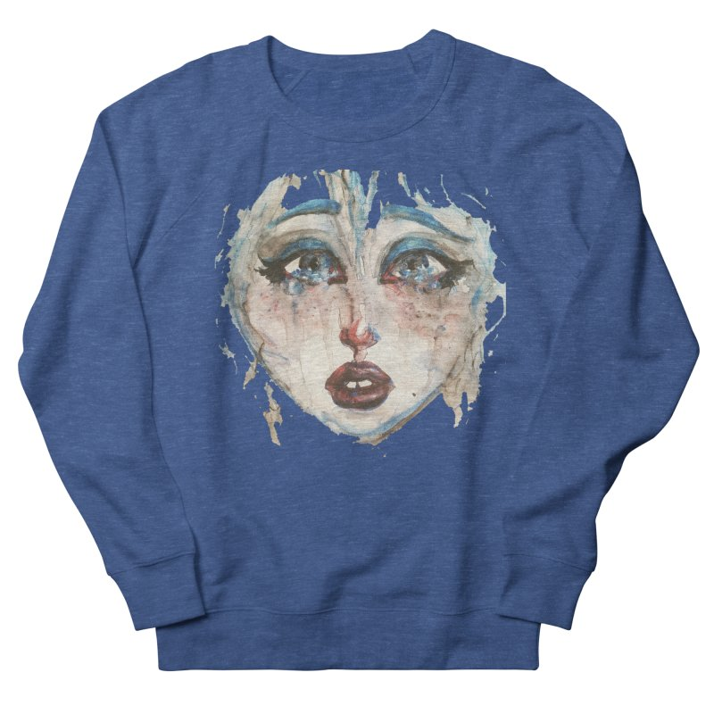 Bleu Women's French Terry Sweatshirt by dasiavou's Artist Shop