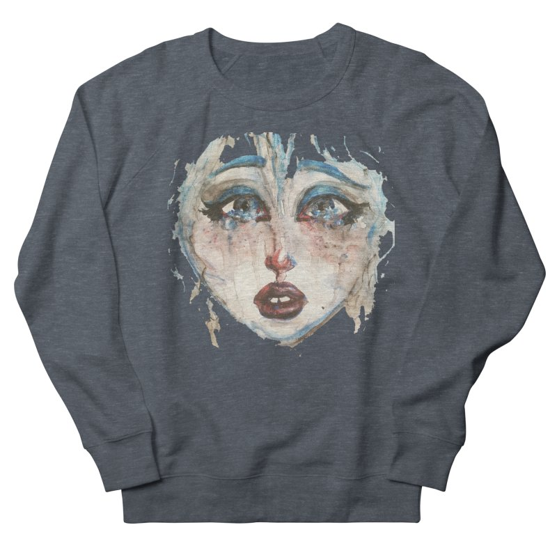 Bleu Women's French Terry Sweatshirt by dasiavou's Artist Shop