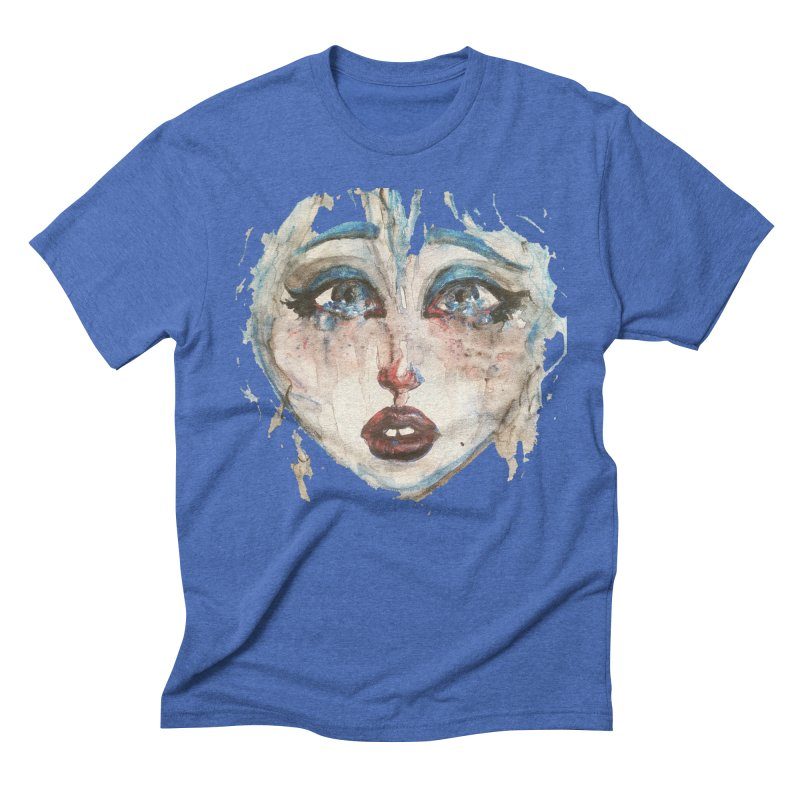 Bleu Men's Triblend T-Shirt by dasiavou's Artist Shop