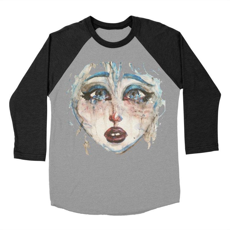 Bleu Men's Baseball Triblend T-Shirt by dasiavou's Artist Shop
