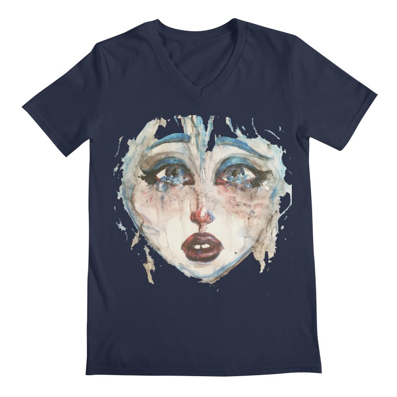 Bleu Men's V-Neck by dasiavou's Artist Shop