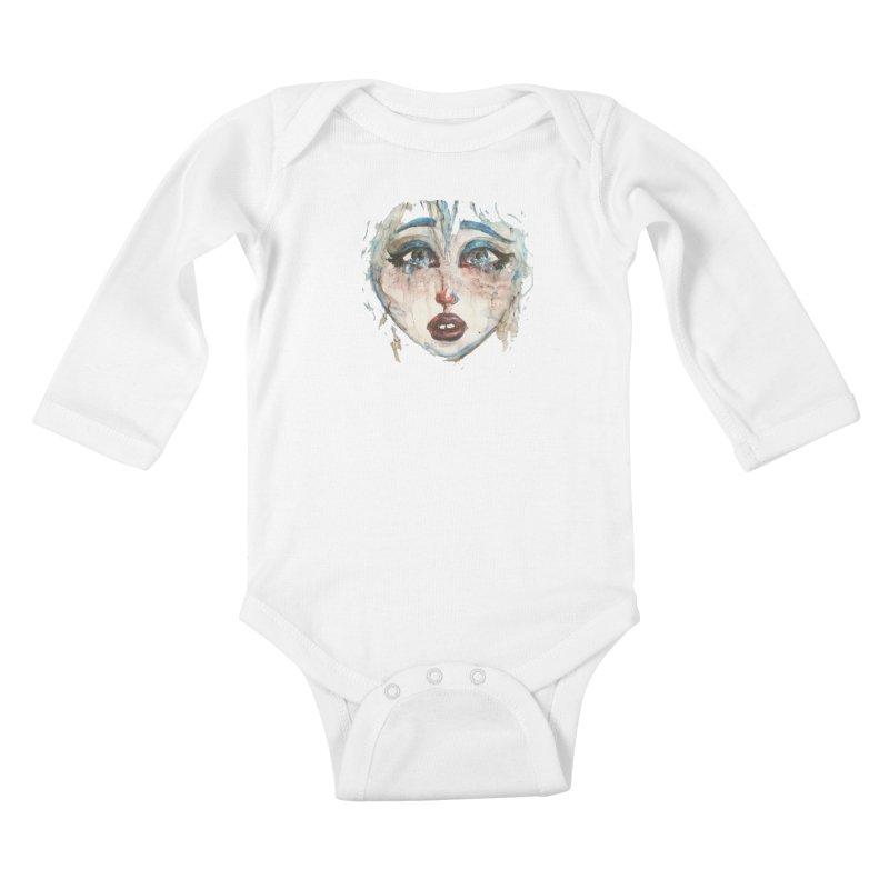 Bleu Kids Baby Longsleeve Bodysuit by dasiavou's Artist Shop