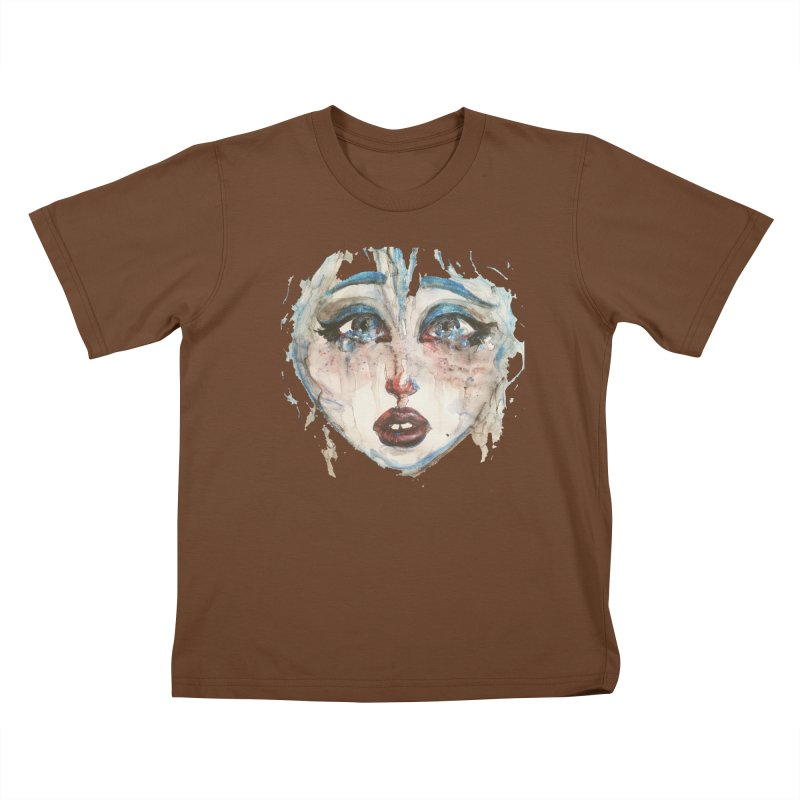 Bleu Kids T-Shirt by dasiavou's Artist Shop
