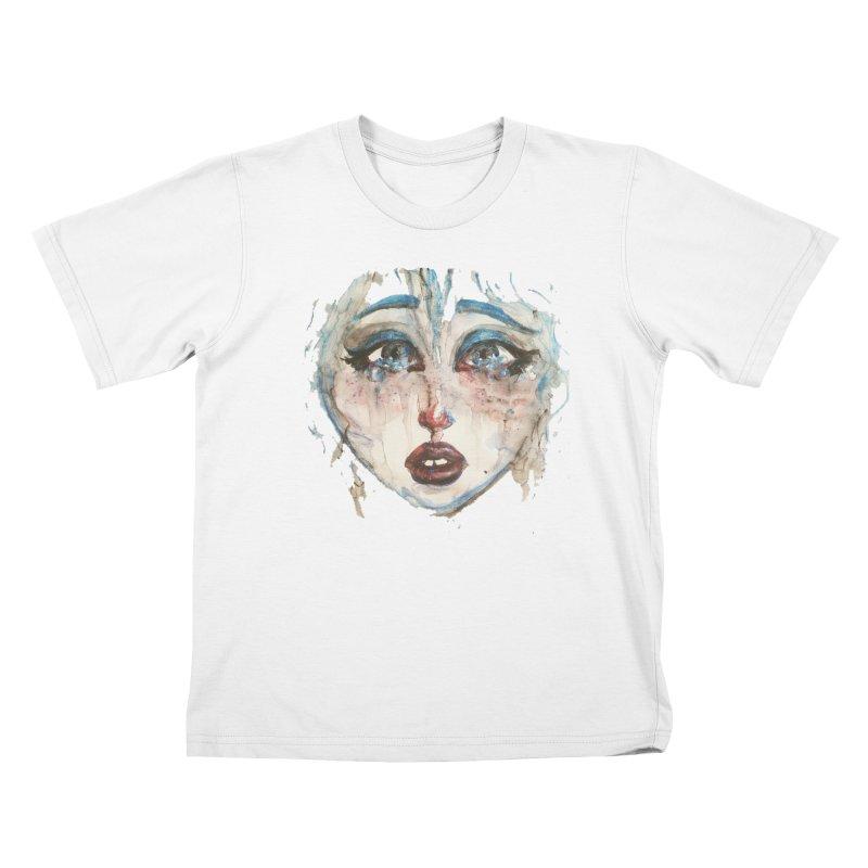 Bleu Kids T-Shirt by dasiavou's Artist Shop