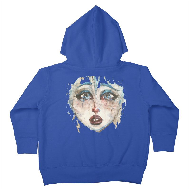 Bleu Kids Toddler Zip-Up Hoody by dasiavou's Artist Shop