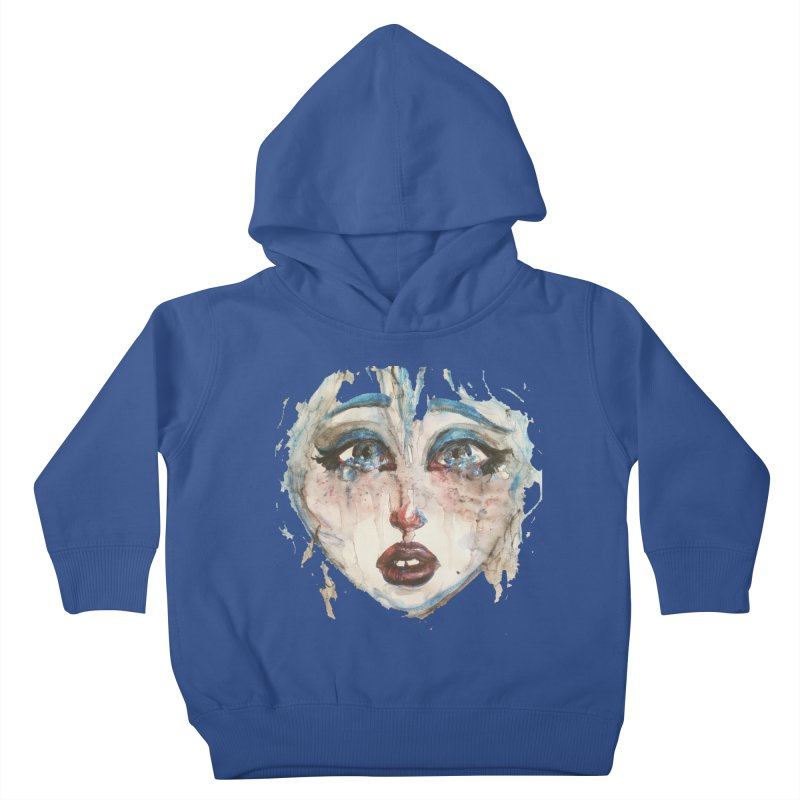 Bleu Kids Toddler Pullover Hoody by dasiavou's Artist Shop