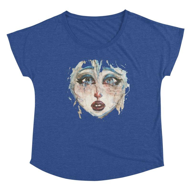 Bleu Women's Dolman Scoop Neck by dasiavou's Artist Shop