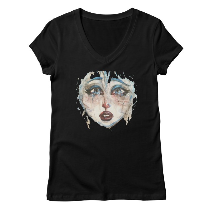 Bleu Women's V-Neck by dasiavou's Artist Shop