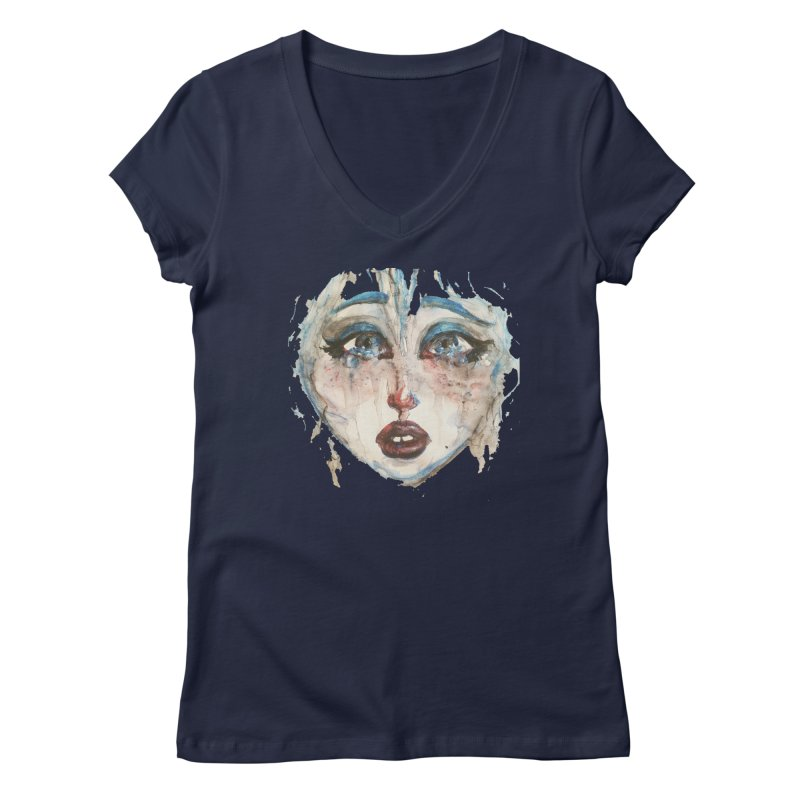 Bleu Women's V-Neck by dasiavou's Artist Shop