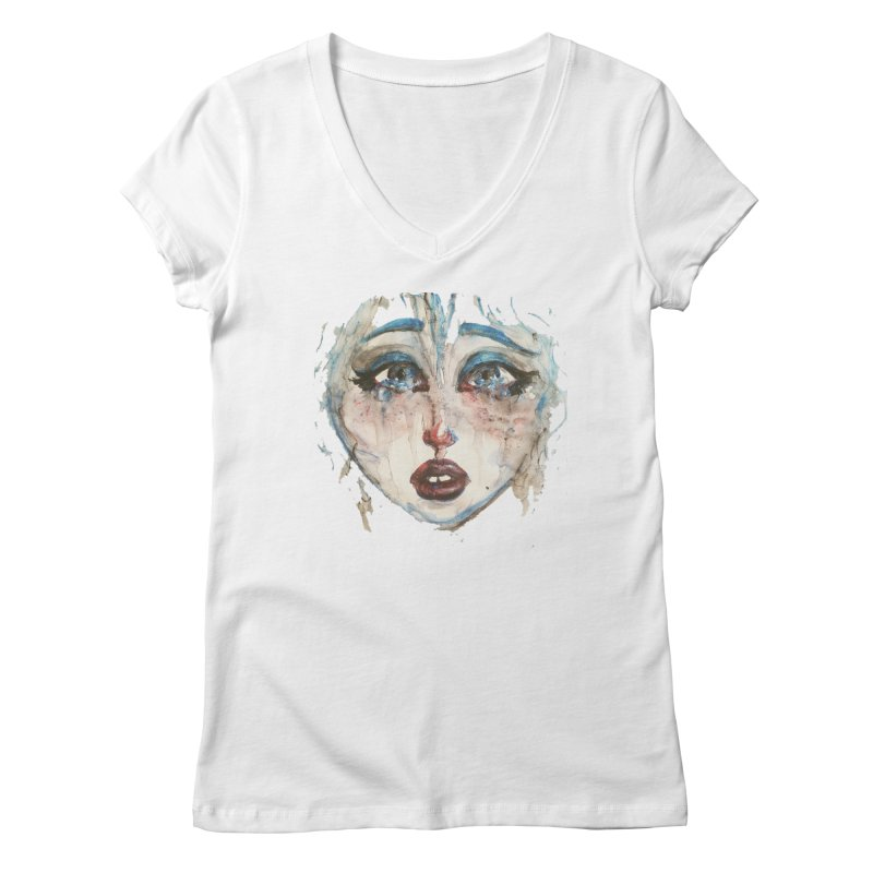 Bleu Women's Regular V-Neck by dasiavou's Artist Shop