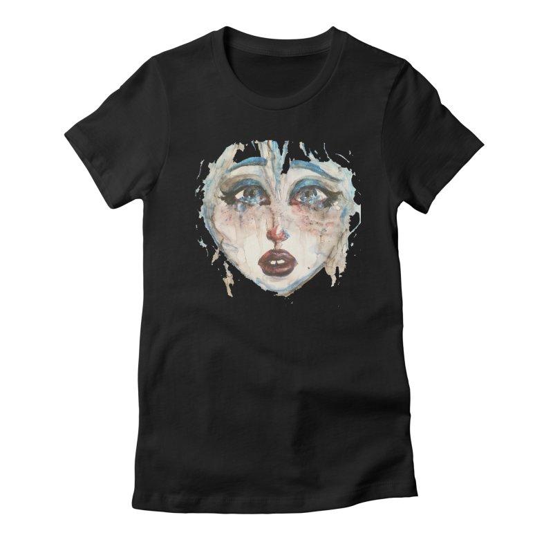 Bleu Women's Fitted T-Shirt by dasiavou's Artist Shop