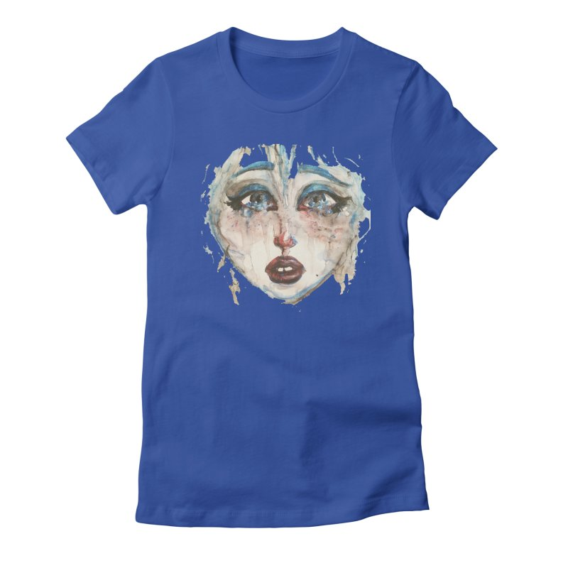Bleu Women's Fitted T-Shirt by dasiavou's Artist Shop