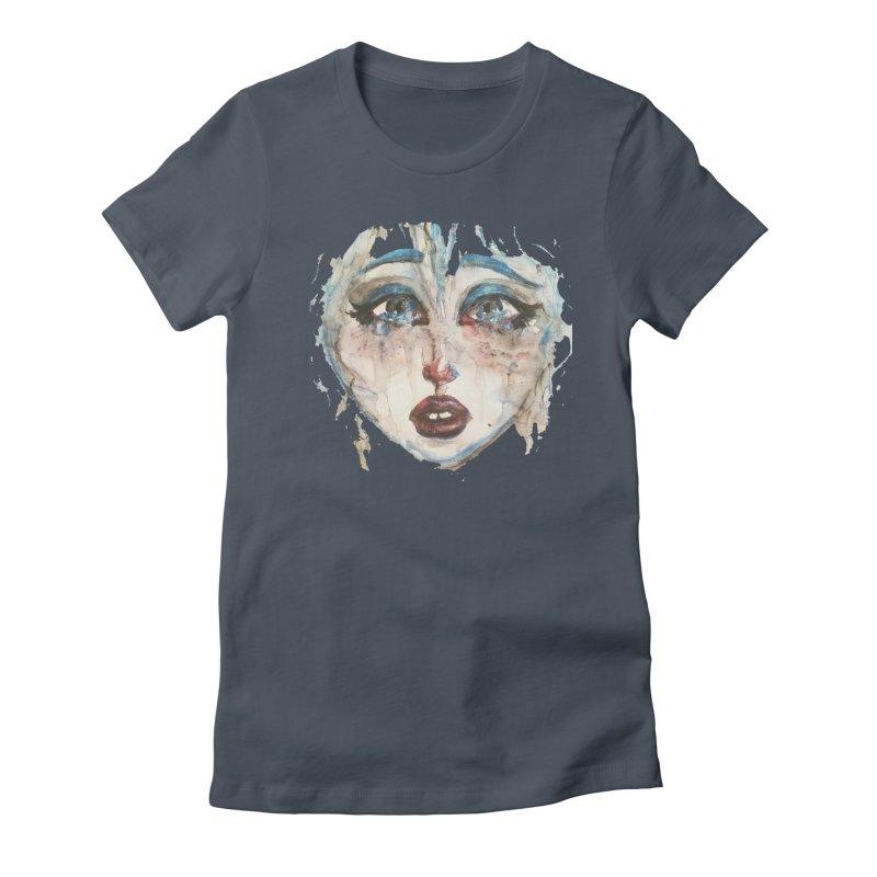 Bleu Women's T-Shirt by dasiavou's Artist Shop