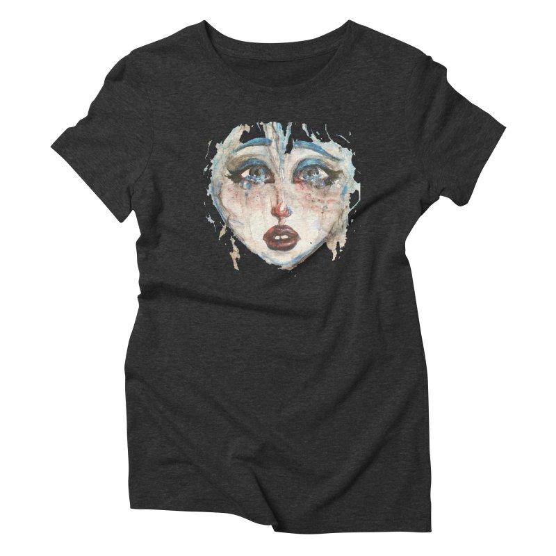 Bleu Women's Triblend T-Shirt by dasiavou's Artist Shop