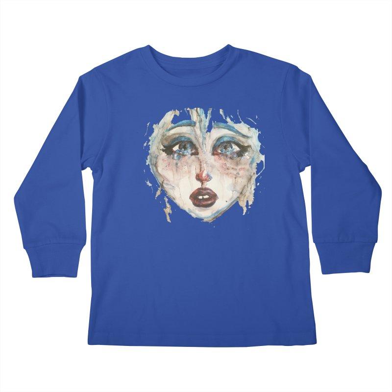 Bleu Kids Longsleeve T-Shirt by dasiavou's Artist Shop