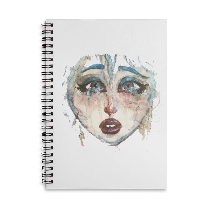 Bleu Accessories Lined Spiral Notebook by dasiavou's Artist Shop