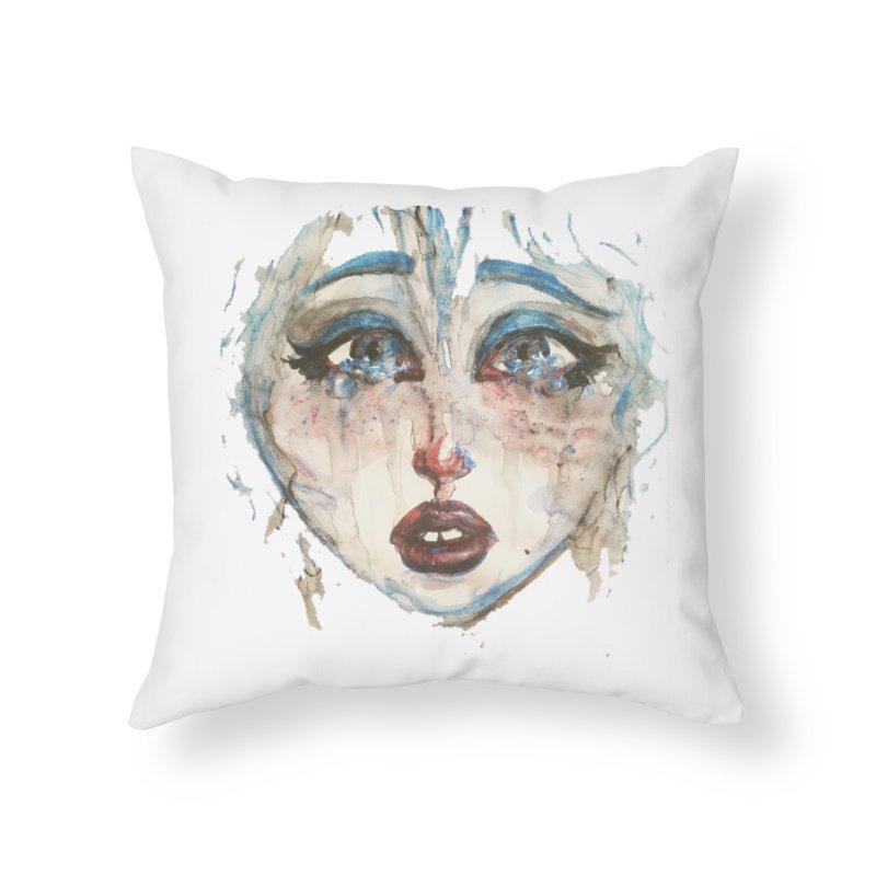 Bleu Home Throw Pillow by dasiavou's Artist Shop