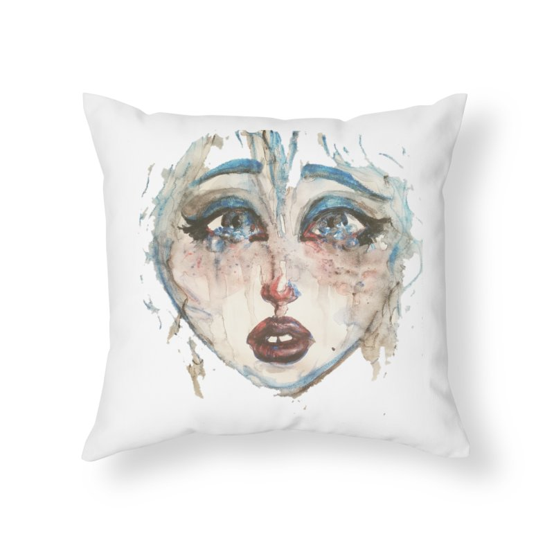 Bleu Home Throw Pillow by dasiavou's Artist Shop