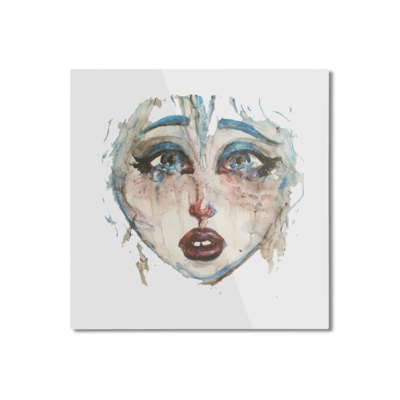 Bleu Home Mounted Aluminum Print by dasiavou's Artist Shop