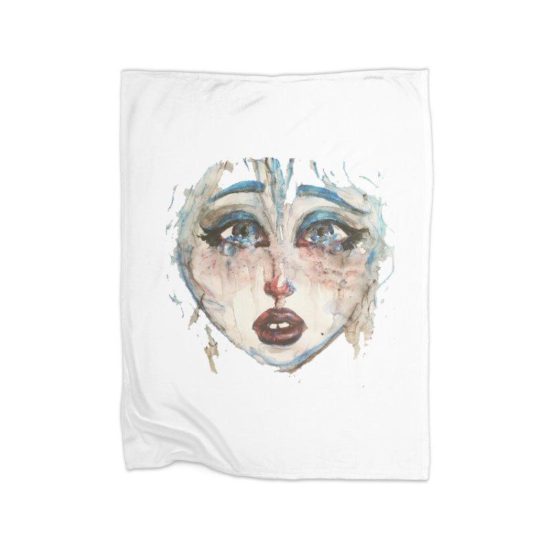 Bleu Home Fleece Blanket Blanket by dasiavou's Artist Shop