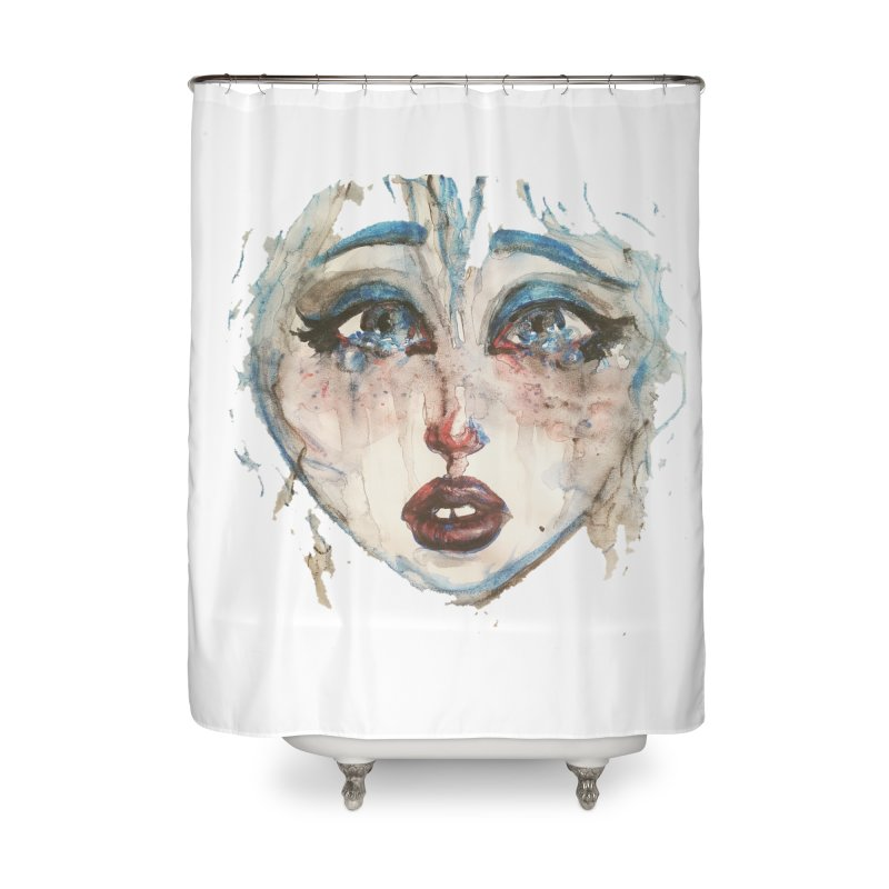 Bleu Home Shower Curtain by dasiavou's Artist Shop