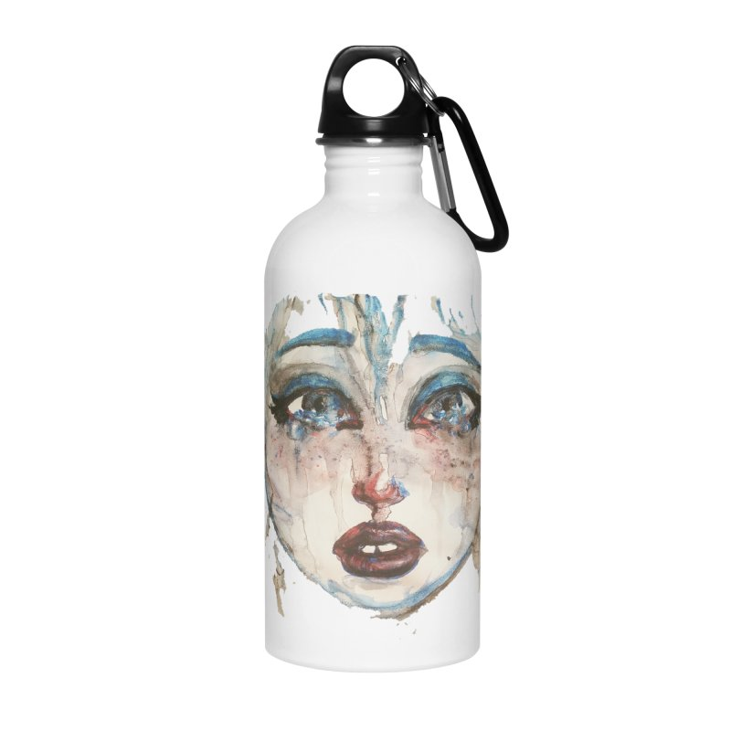 Bleu Accessories Water Bottle by dasiavou's Artist Shop