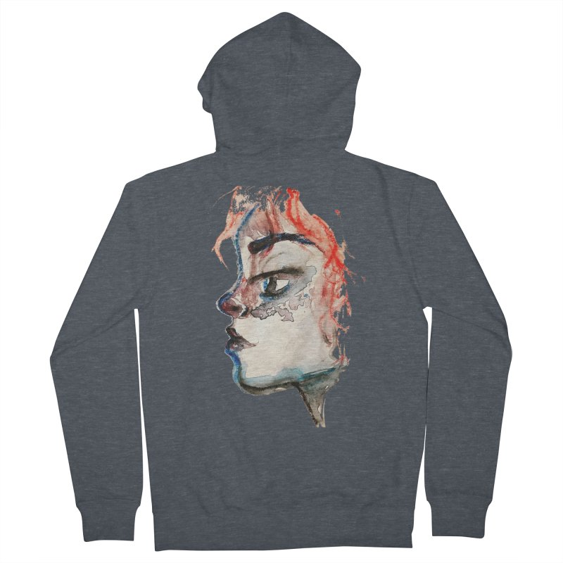 Spark Men's French Terry Zip-Up Hoody by dasiavou's Artist Shop