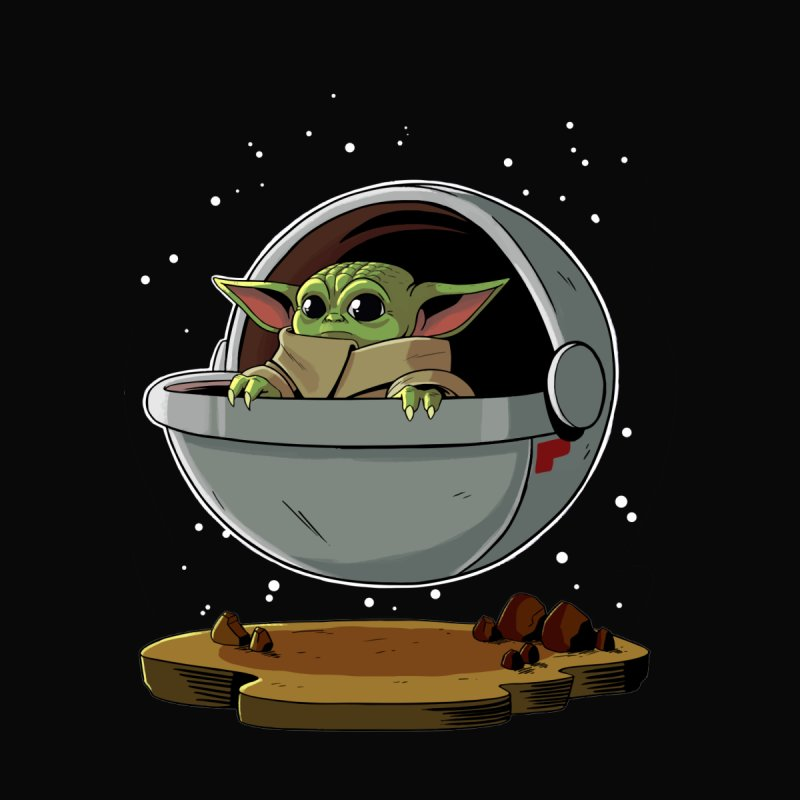 Baby Yoda Floating Colorized Kids Toddler Longsleeve T-Shirt by Dastardly Apparel