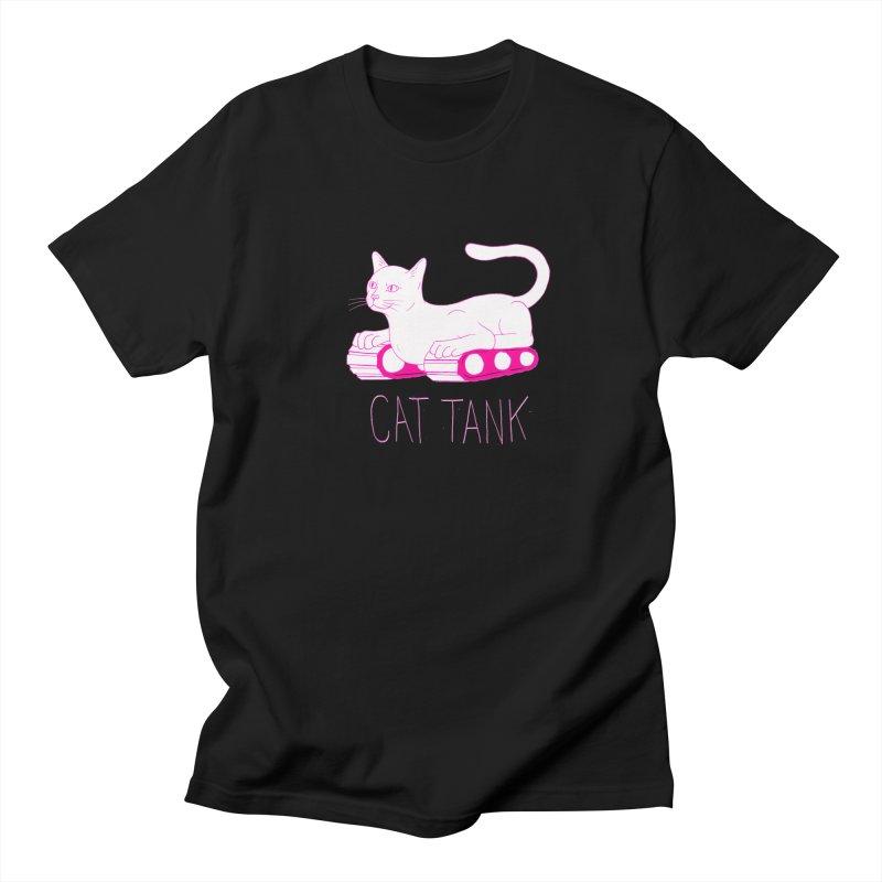 Cat Tank Men's Regular T-Shirt by Dave Jordan Art