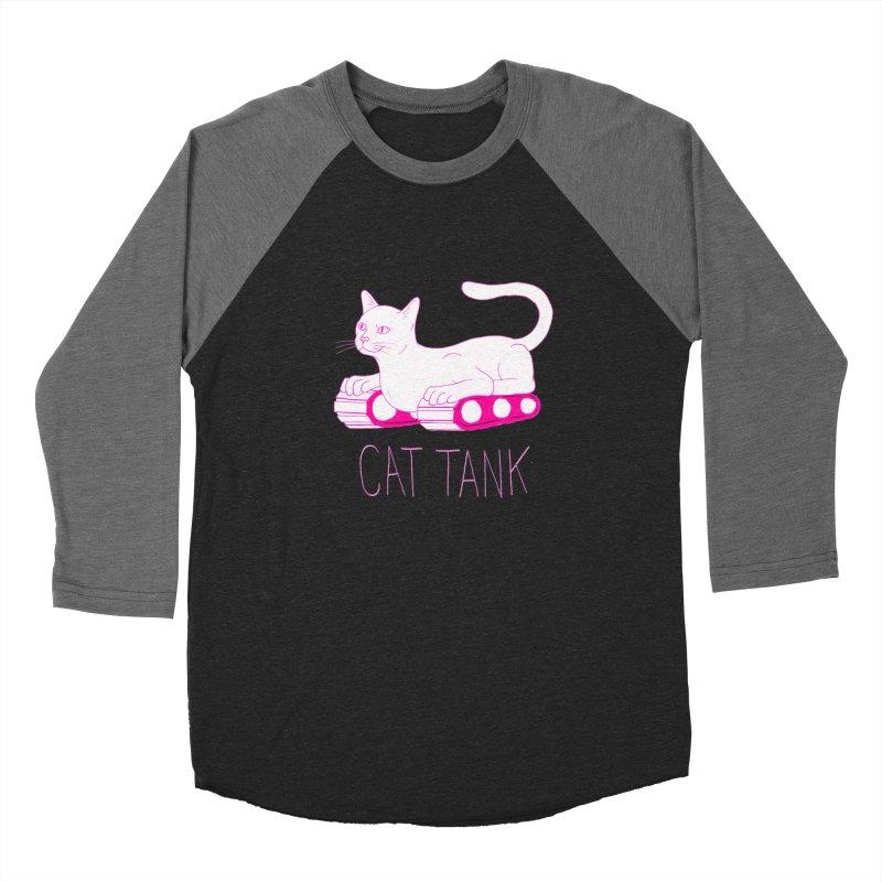 Cat Tank Women's Baseball Triblend Longsleeve T-Shirt by Dave Jordan Art