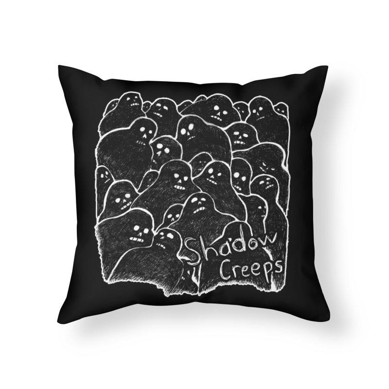 Shadow Creeps Home Throw Pillow by Dave Jordan Art