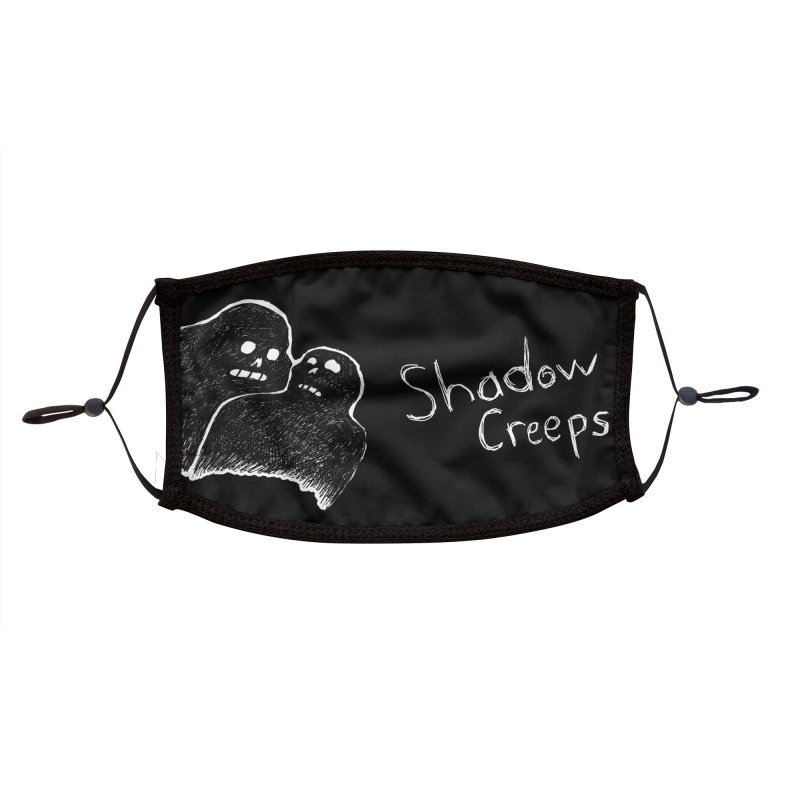 Shadow Creeps Mask - Design 2 Accessories Face Mask by Dave Jordan Art