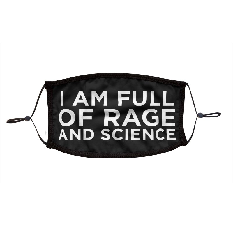 rage and science Accessories Face Mask by Dave Jordan Art