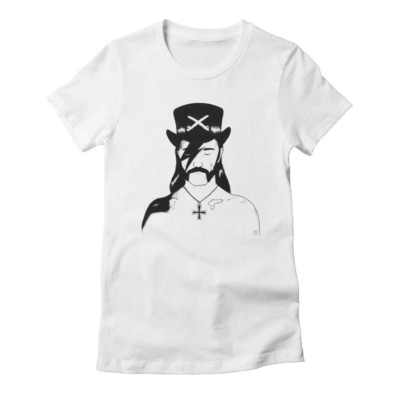 We Could Be Heroes Women's Fitted T-Shirt by Dave Jordan Art