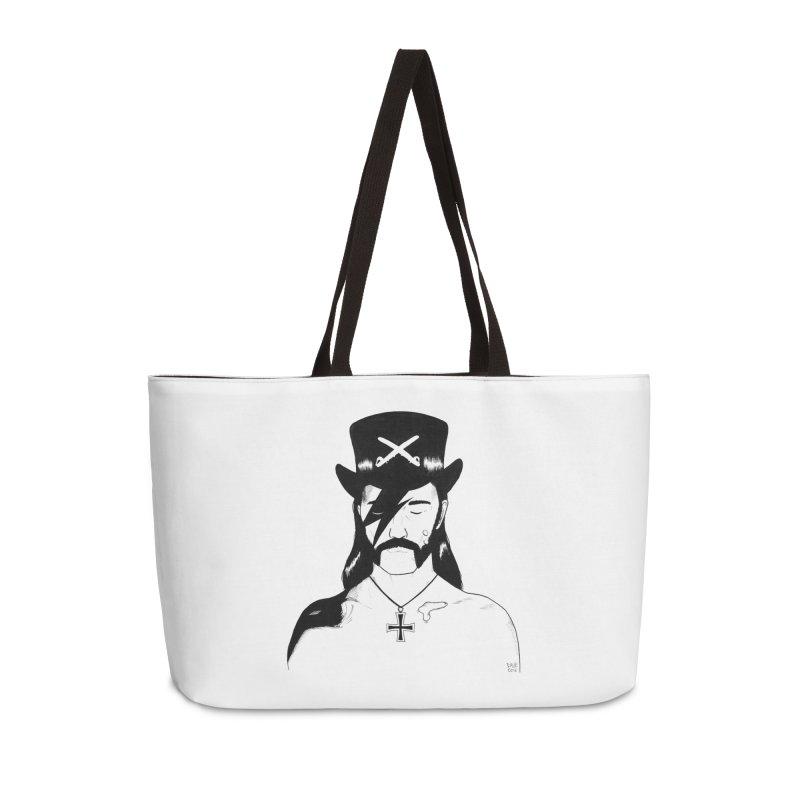 We Could Be Heroes Accessories Weekender Bag Bag by Dave Jordan Art
