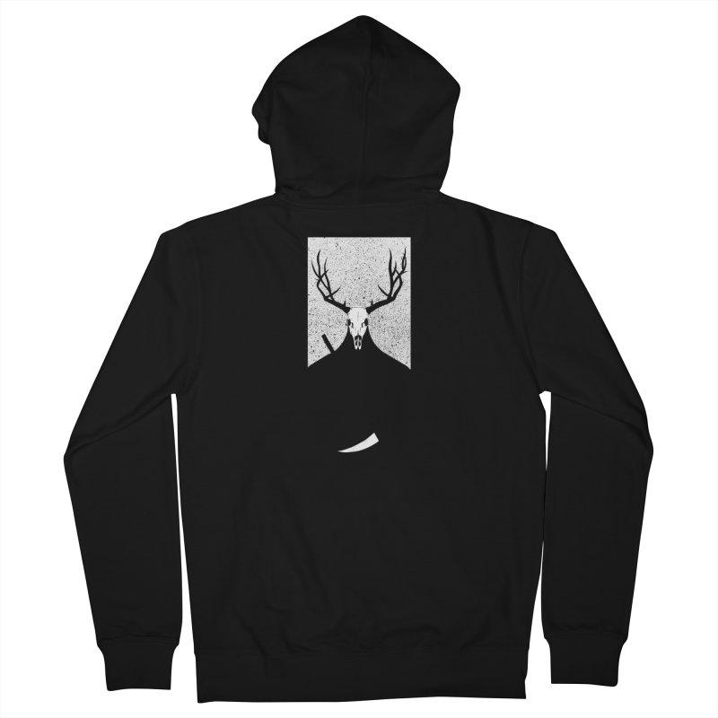 The Elk Reaper Men's Zip-Up Hoody by Dave Jordan Art