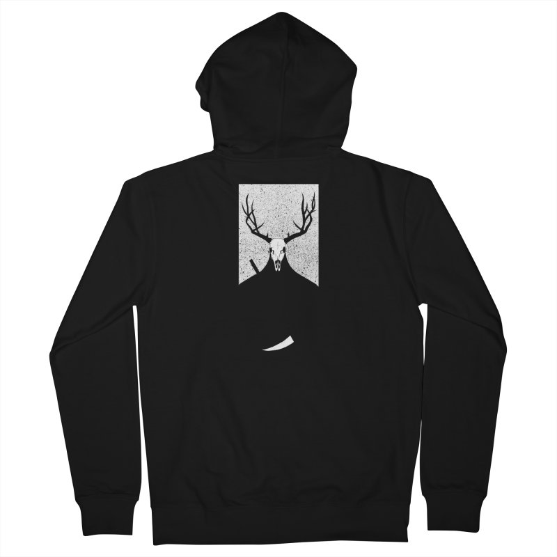 The Elk Reaper Men's French Terry Zip-Up Hoody by Dave Jordan Art