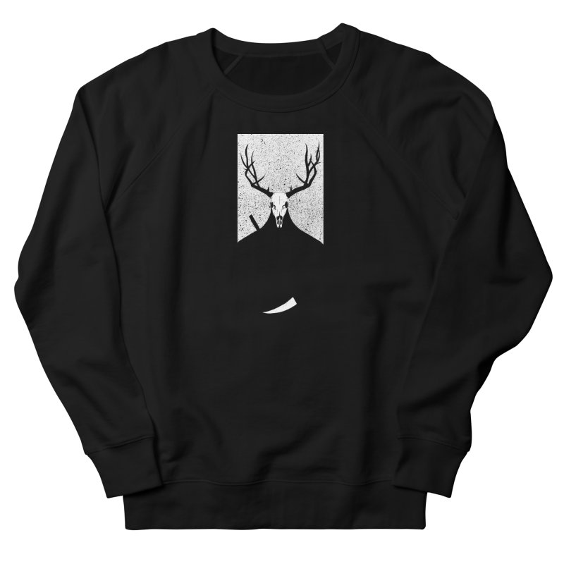 The Elk Reaper Men's French Terry Sweatshirt by Dave Jordan Art