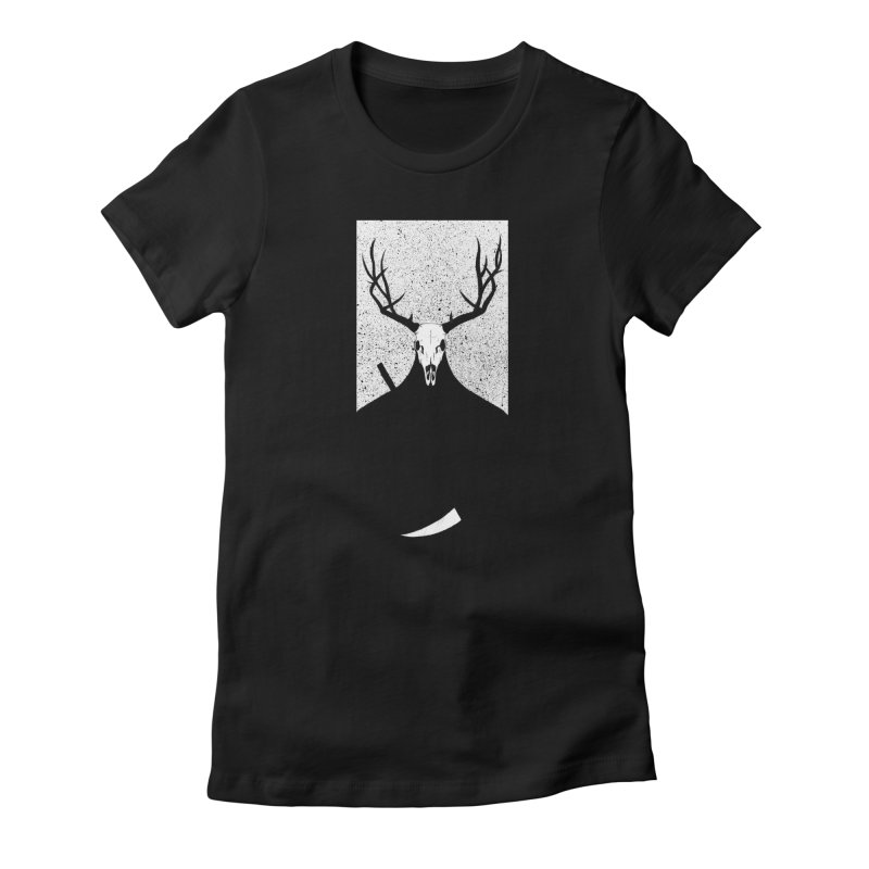 The Elk Reaper Women's Fitted T-Shirt by Dave Jordan Art