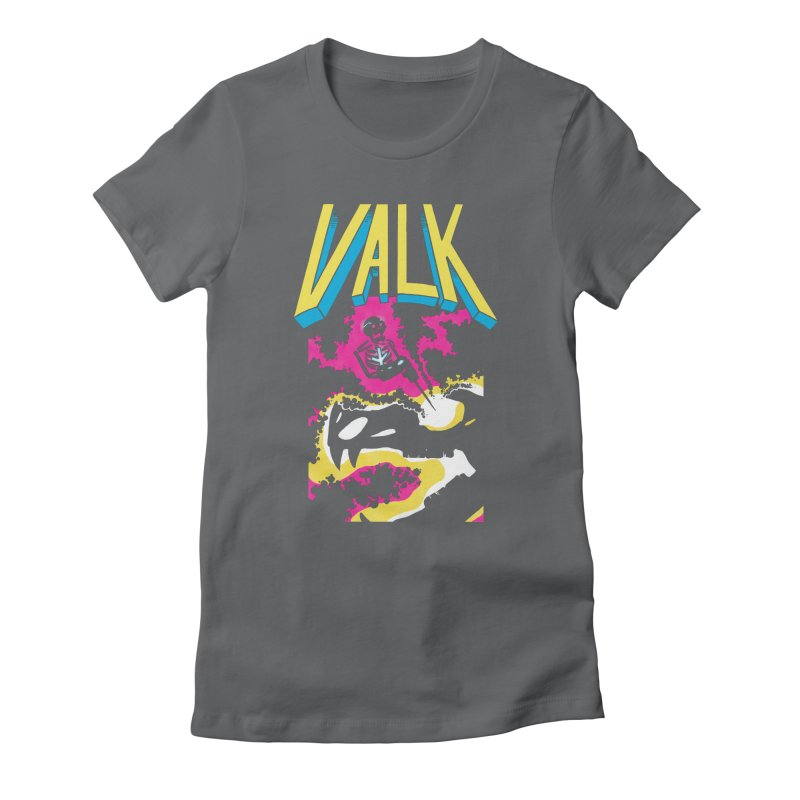 VALK Women's Fitted T-Shirt by Dave Jordan Art