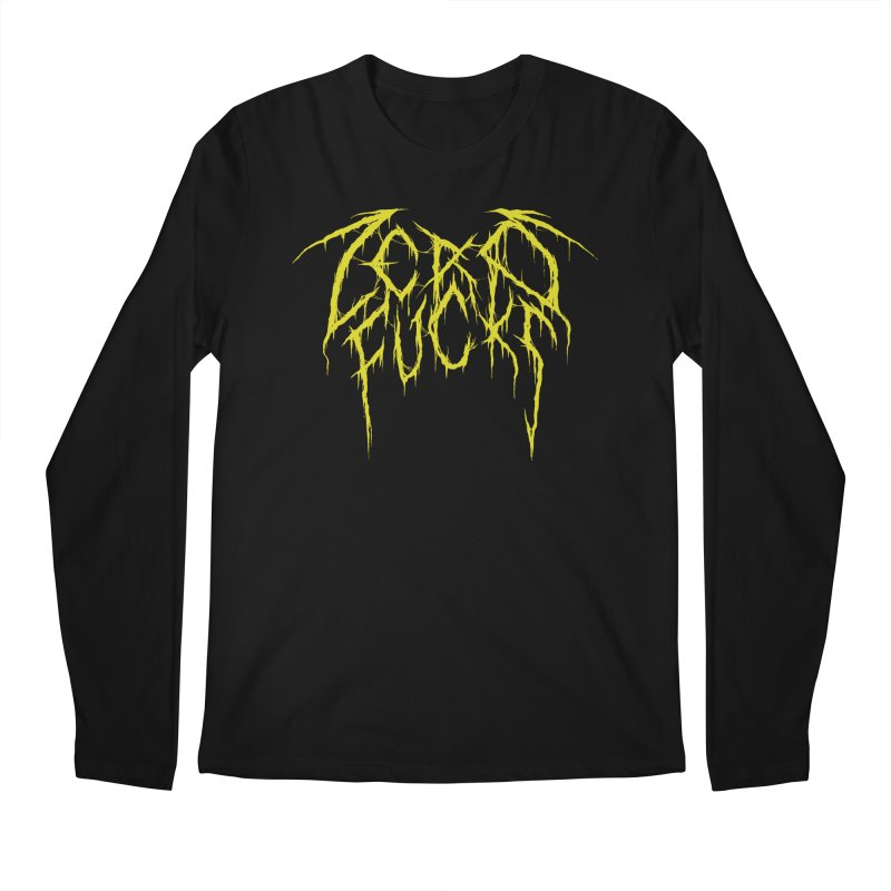 Zero Fucks (Yellow) Men's Regular Longsleeve T-Shirt by Dave Jordan Art