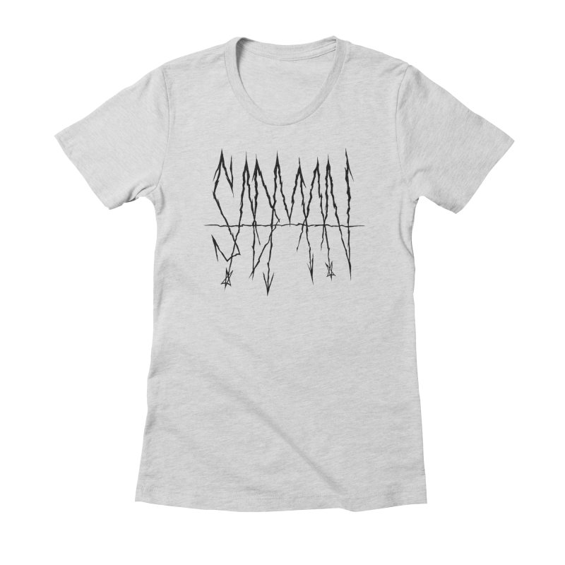 Sadman - Sadmetal (black) Women's Fitted T-Shirt by Dave Jordan Art