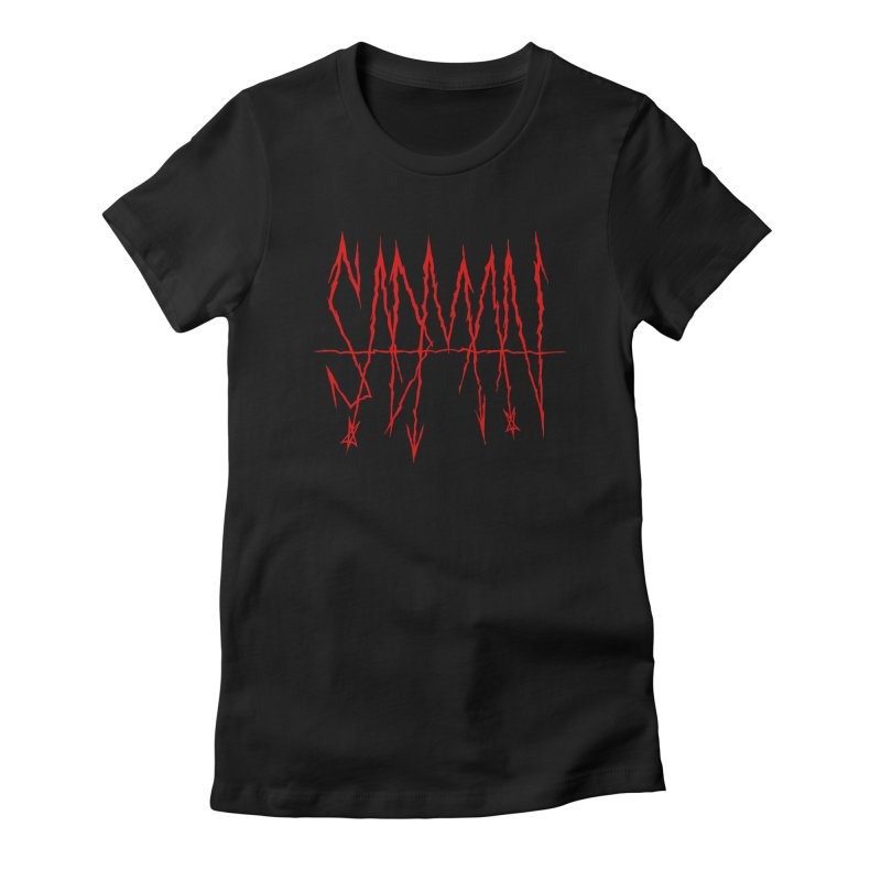 Sadman - Sadmetal (red) Women's Fitted T-Shirt by Dave Jordan Art
