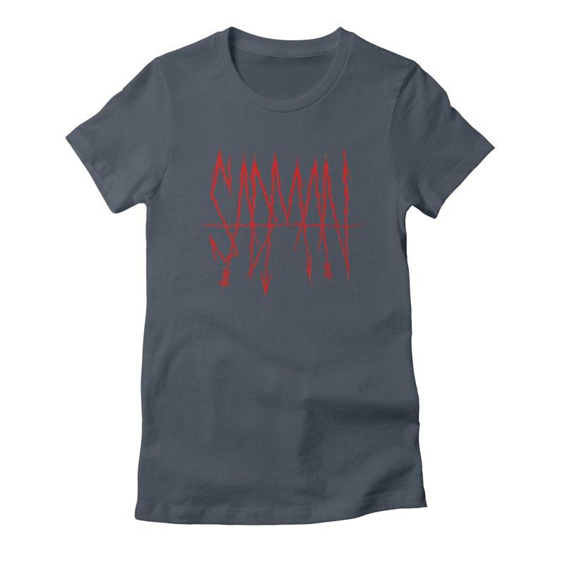 Sadman - Sadmetal (red) Women's Fitted T-Shirt by Dave Jordan Art