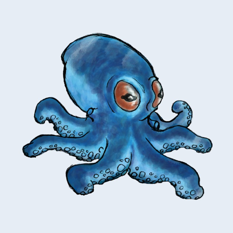 Cephalopodette None  by Illustrator Dave's Artist Shop