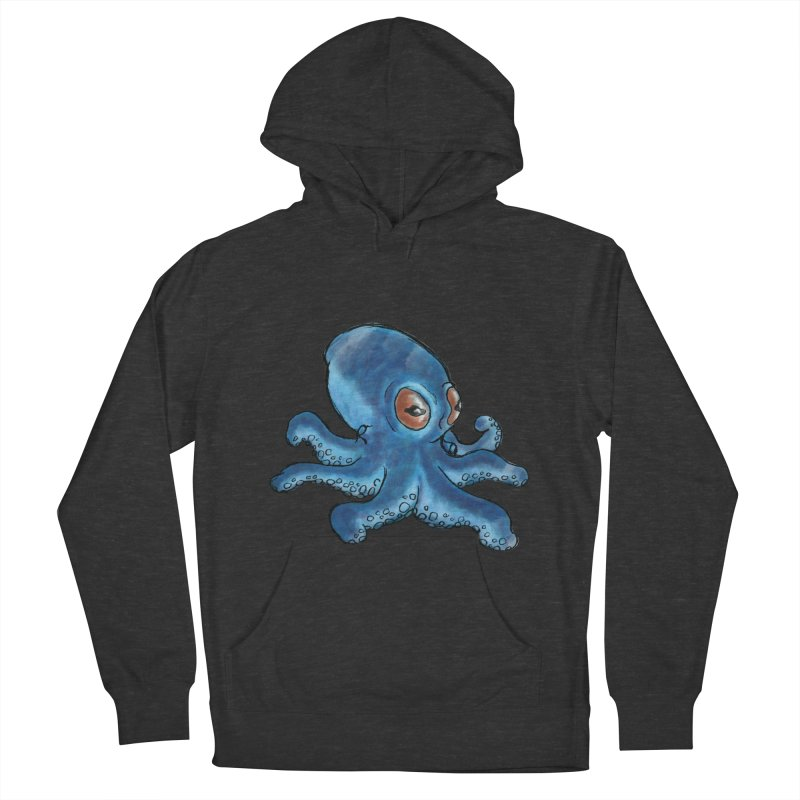 Cephalopodette Men's French Terry Pullover Hoody by Illustrator Dave's Artist Shop
