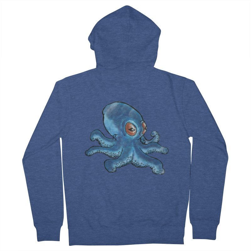 Cephalopodette Women's French Terry Zip-Up Hoody by Illustrator Dave's Artist Shop