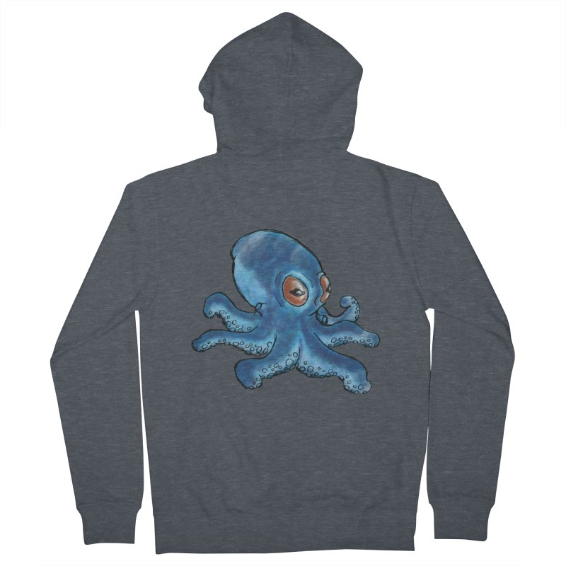 Cephalopodette Men's French Terry Zip-Up Hoody by Illustrator Dave's Artist Shop