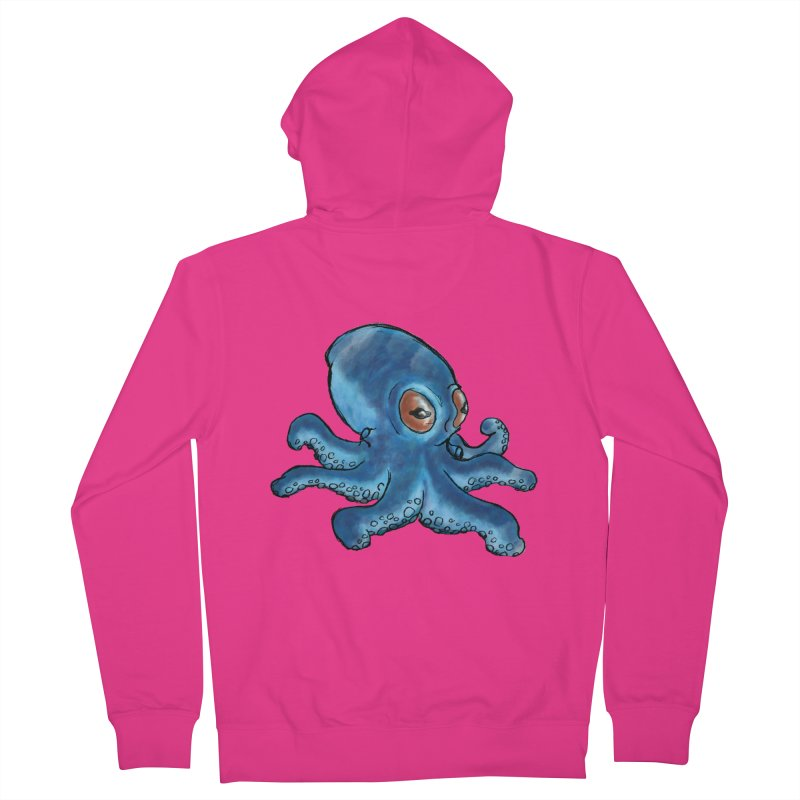 Cephalopodette Men's Zip-Up Hoody by Illustrator Dave's Artist Shop