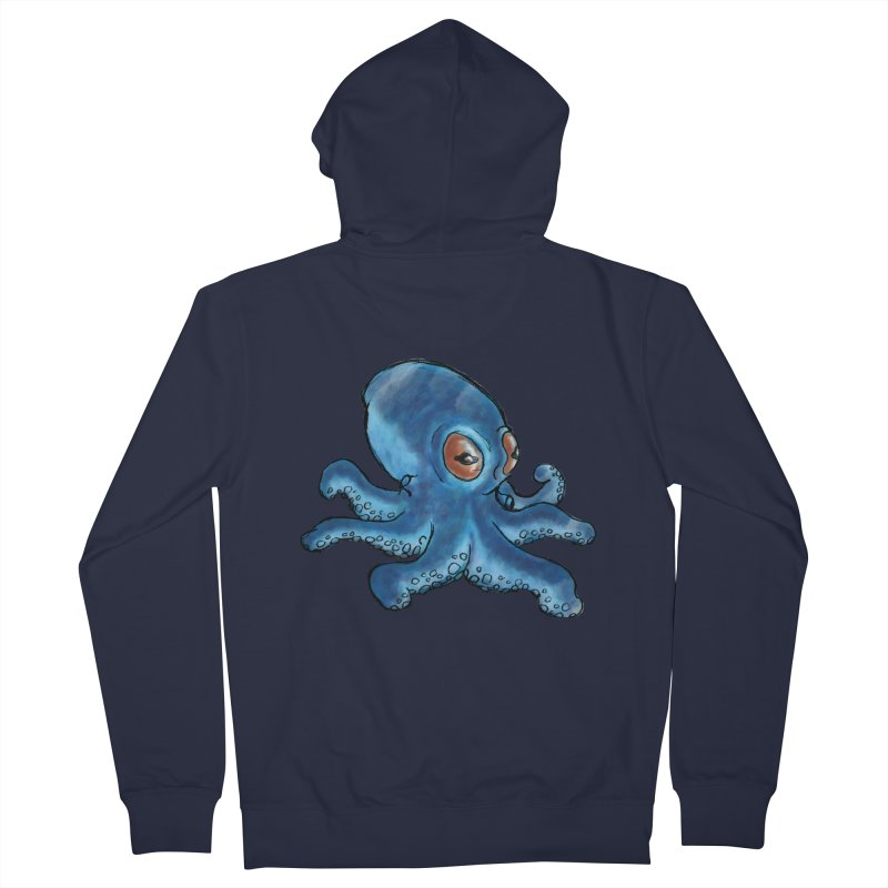 Cephalopodette Men's Zip-Up Hoody by Illustrator Dave's Artist Shop